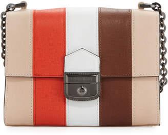 Longchamp Effrontee Striped Calf Leather Crossbody Bag