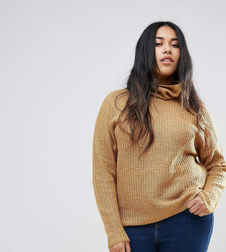 Brave Soul Plus Central Roll Neck Sweater