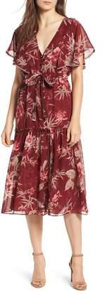 MISA LOS ANGELES Veronique Ruffle Sleeve Dress