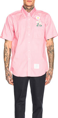 Thom Browne Daisy Pocket Button Down Shirt in Pink | FWRD