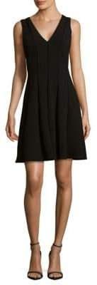 Rebecca Taylor Diamond Textured Fit-&-Flare Dress