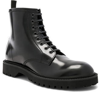 Saint Laurent Leather William 25 Lace-Up Wingtip Boots
