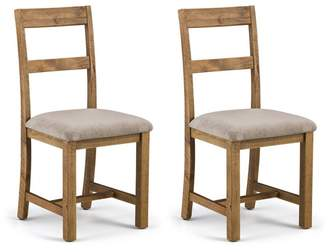 Debenhams JULIAN BOWEN Pair Of Pine 'Whistler' Dining Chairs
