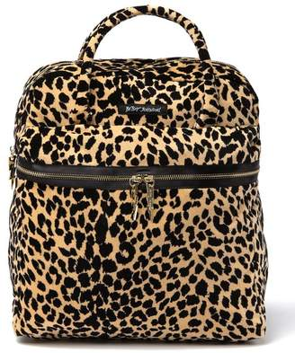 Betsey Johnson Leopard Print Top Handle Backpack