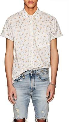 R 13 Men's Daisy-Print Cotton Skater shirt