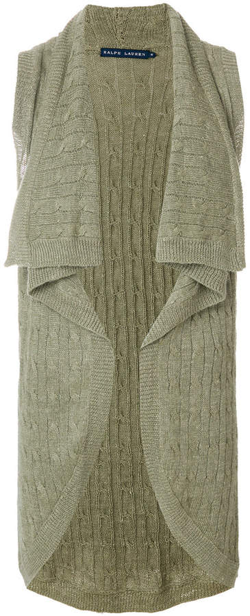 Ralph Lauren knitted sleeveless cardigan