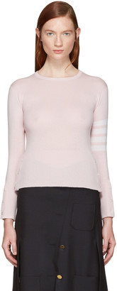 Thom Browne Pink Classic Crewneck Short Pullover $1,390 thestylecure.com