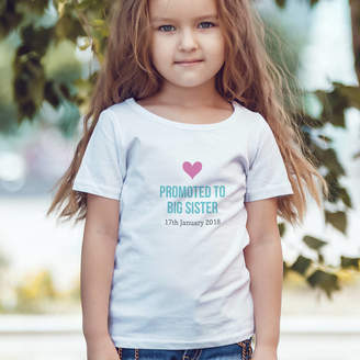 Hurley Sarah Personalised Promoted To Big Sister T Shirt