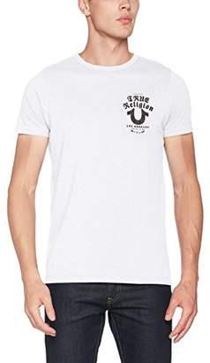 True Religion Men's Crew Shirt Logo T-Shirt,M