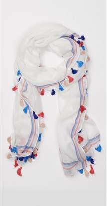 J.Mclaughlin Tapestry Scarf in Fineline Stripe