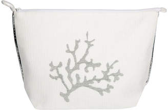 Saint Tropez Marinette Coral Brode Cosmetic Bag - Ivory