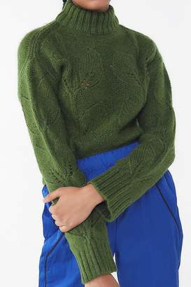 Urban Outfitters Botanical Embroidered Turtleneck Sweater