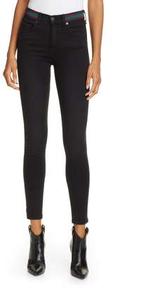 Veronica Beard Kate Tux Waistband Skinny Jeans