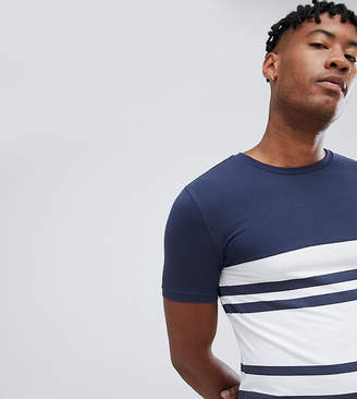 Asos DESIGN Tall muscle fit t-shirt with thick stripe