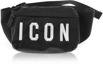 DSQUARED2 Icon Black Nylon Men's Bum Bag