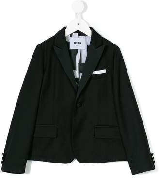 MSGM Kids one button blazer