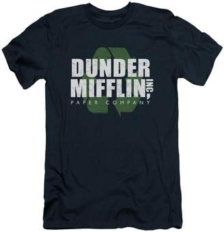 Office The Comedy Sitcom TV Series NBC Recycle Mifflin Adult Slim T-Shirt Tee