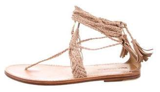 Ulla Johnson Suede Lace-Up Sandals