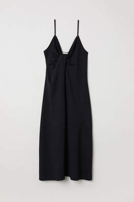 H&M Tie-detail Dress - Black