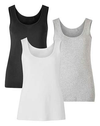 Capsule Black/ White/ Grey Pack of 3 Vests