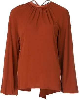 Rosetta Getty open back blouse