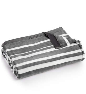 Berkshire Closeout! Classic Velvety Stripe Plush Twin Blanket Bedding