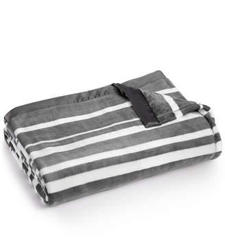 Berkshire Last Act! Classic Velvety Stripe Plush King Blanket Bedding