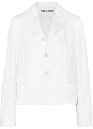Comme des Garcons Reversible Crocheted Lace And Cotton-blend Blazer - White