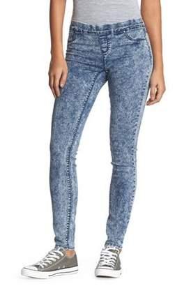 l.e.i. Juniors' Luxe Pull On Knit Denim Pants
