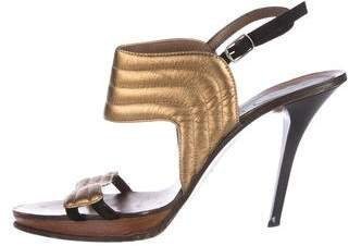 Marni Metallic Ankle Strap Sandals