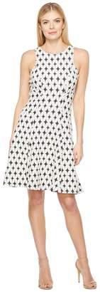 Karen Kane Jacquard Knit Flare Dress Women's Dress