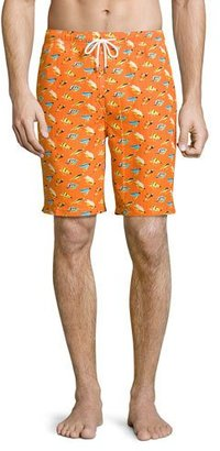 Peter Millar Fly Fishing Swim Trunks, Orange $85 thestylecure.com