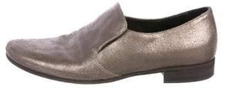 Brunello Cucinelli Metallic Leather Loafers