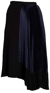 Marni Women's Asymmetric Pleated Midi Skirt