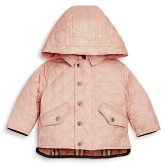 Burberry Girls' Ilana Quilted Hooded Jacket - Baby