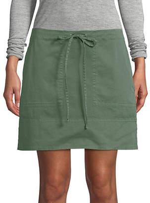 Theory Stitched Drawstring Mini Skirt