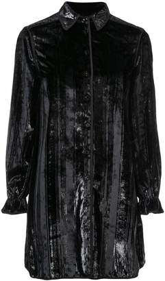 Opening Ceremony Velvet Twill shirt dress