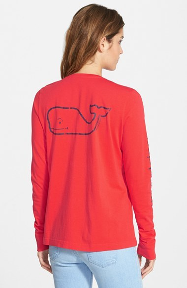 Women's Vineyard Vines Whale Print Long Sleeve Tee 5