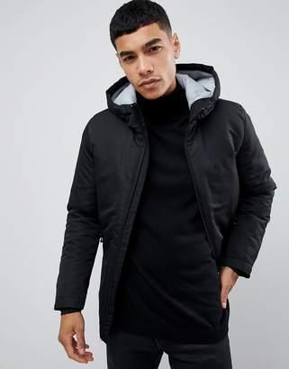 Jack and Jones Core padded jacket with hood