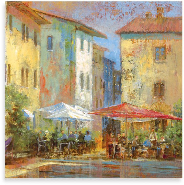 """Bed Bath & BeyondMichael Longo, """"Courtyard Café"""" Canvas Print"""