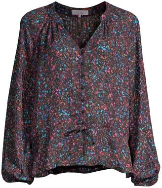 227ac13d5f4b02 at Saks Fifth Avenue · Parker Rosline Silk-Blend Floral Blouse