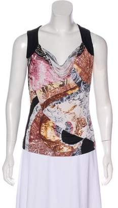Just Cavalli Cowl Neck Sleeveless Top