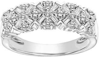 Vera Wang Simply Vera 14k White Gold 3/4 Carat T.W. Certified Diamond Cluster Anniversary Ring