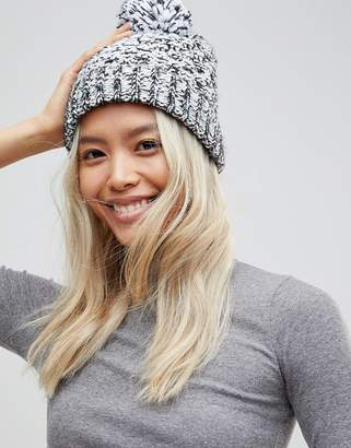 French Connection Mixed Marl Knitted Beanie Hat