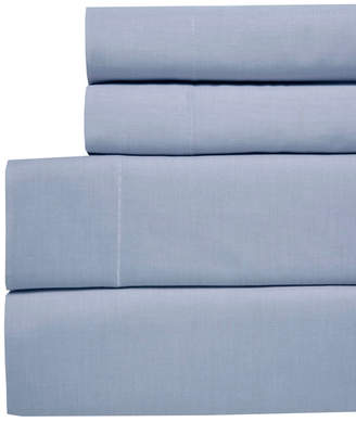 Westport Yarn Dyed Chambray Queen 4-pc Sheet Set, 200 Thread Count 100% Cotton Bedding