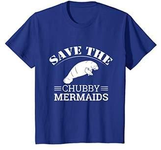 Save The Chubby Mermaids Manatees Apparel T-Shirt