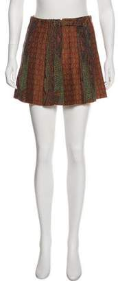 Etro Wool Patterned Skirt w/ Tags