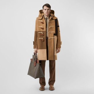 Burberry Panelled Wool Duffle Coat