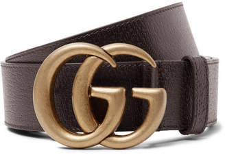 Gucci 4cm Dark-Brown Full-Grain Leather Belt - Men - Dark brown