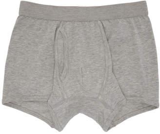 Comme des Garcons Grey Plain Boxer Shorts